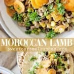 Moroccan Lamb with text overlay