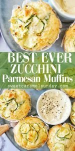 Zucchini Parmesan Muffins with text overlay