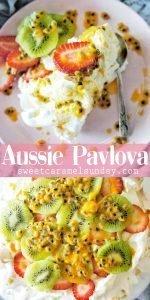 8 Egg Pavlova with text overlay