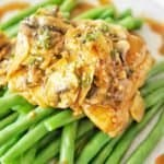 Honey Mustard Chicken Thighs with text overlay pin