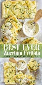 Zucchini Frittata with text overlay