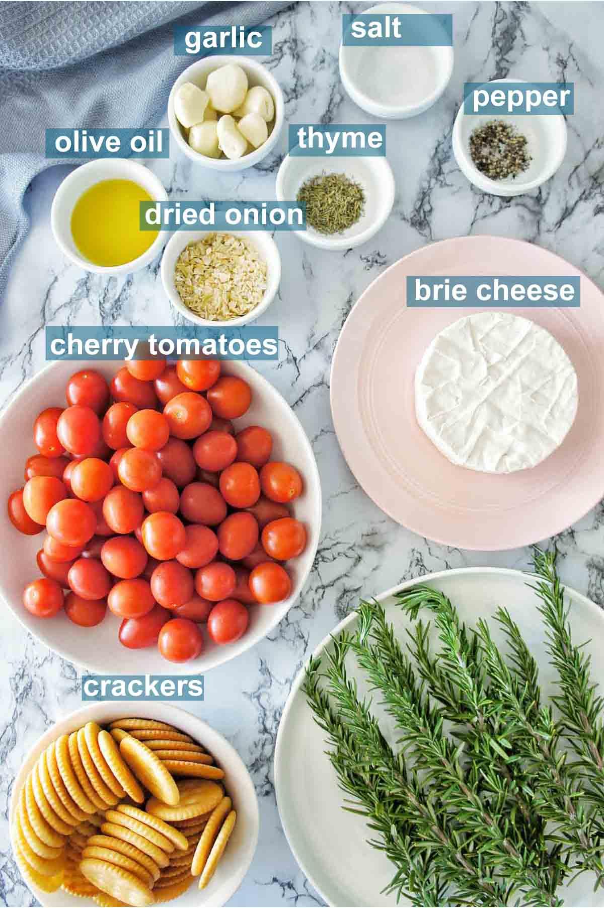 Garlic baked brie ingredients