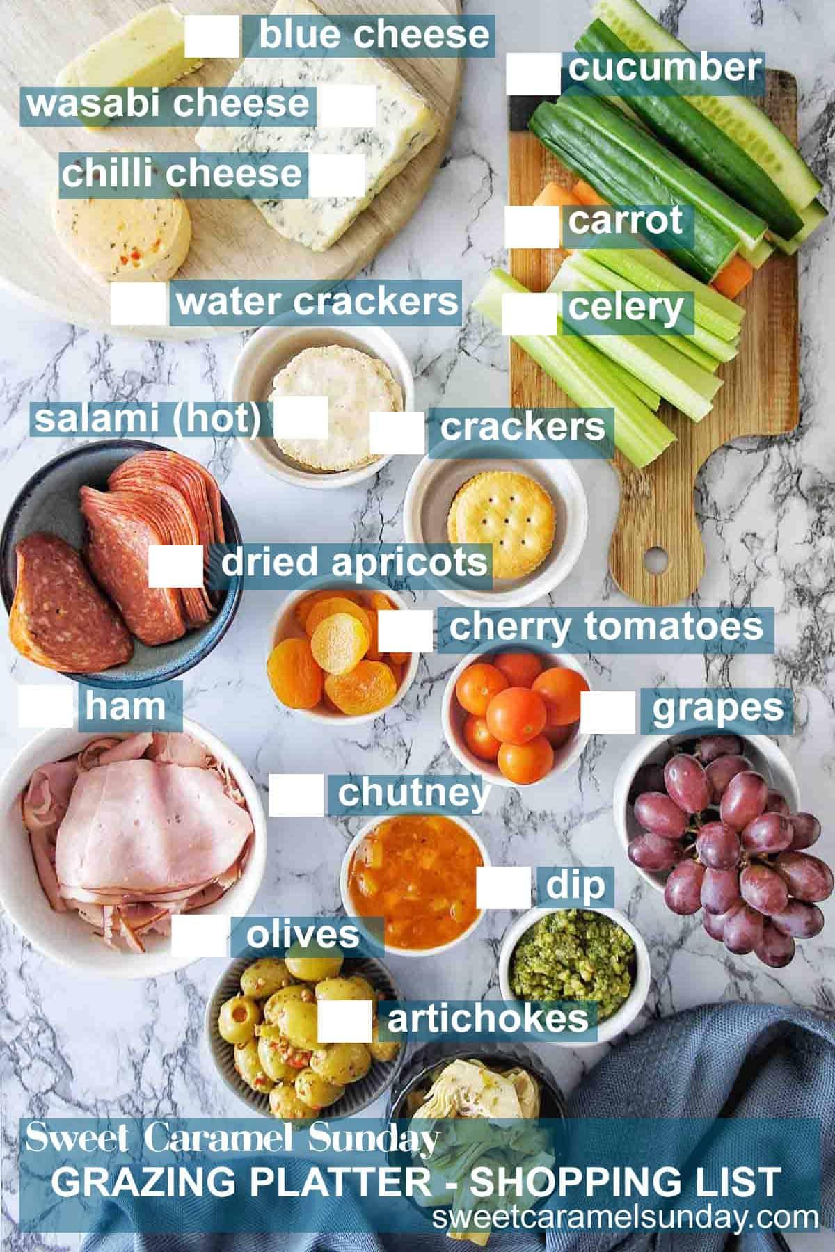 Grazing Platter Shopping List