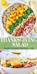 Thanksgiving Salad with text overlay