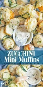 Zucchini Mini Muffins with text overlay
