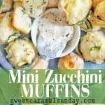 Zucchini Mini Muffins with text overlay