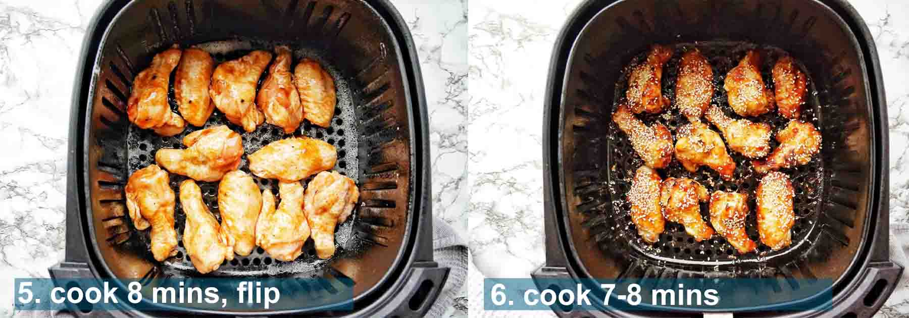 Before and after photos of Air Fryer Chicken Wings