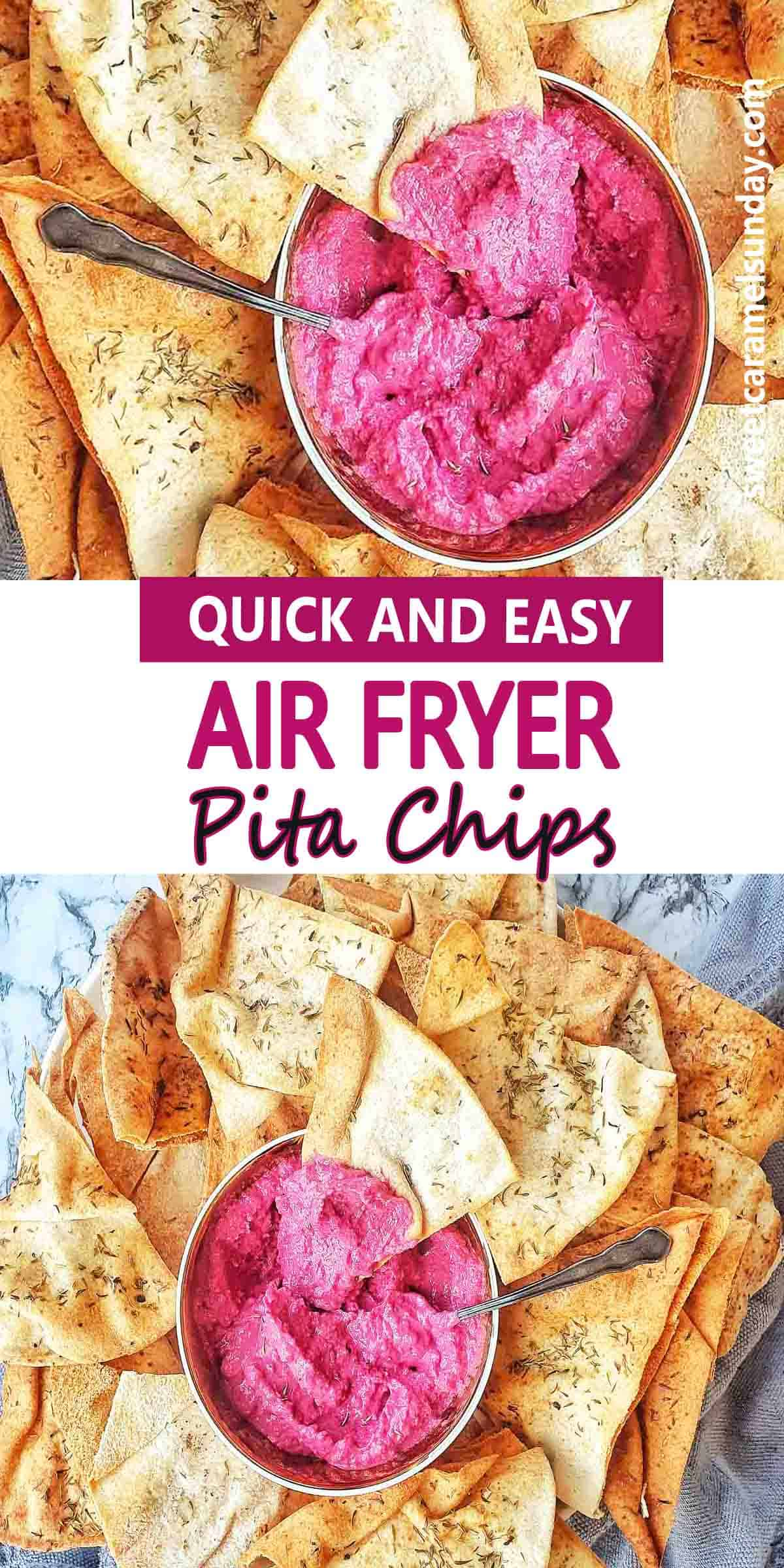 Air Fryer Pita Chips with text label