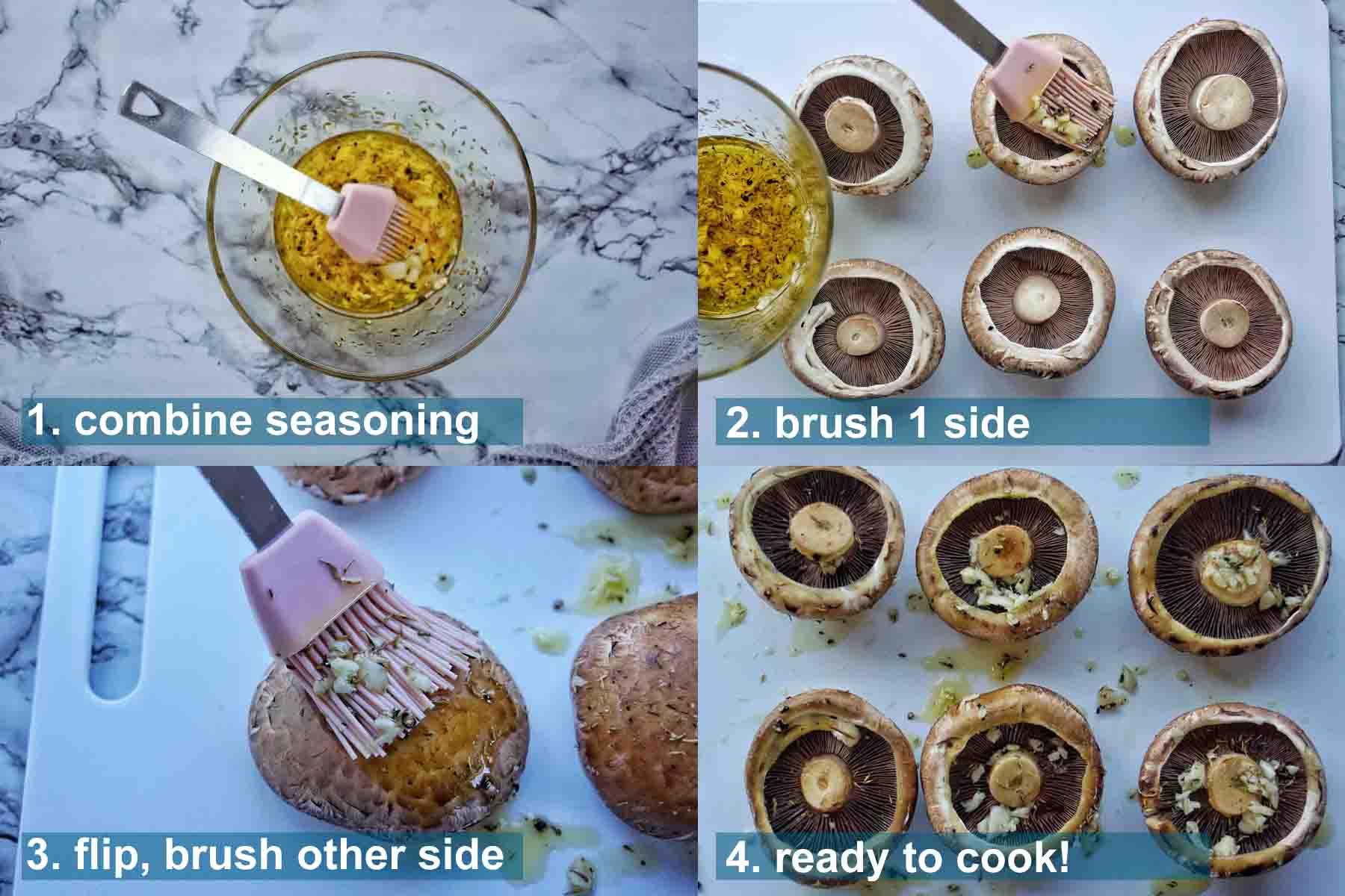 Method for Air Fryer Portobello Mushrooms 1 to 4