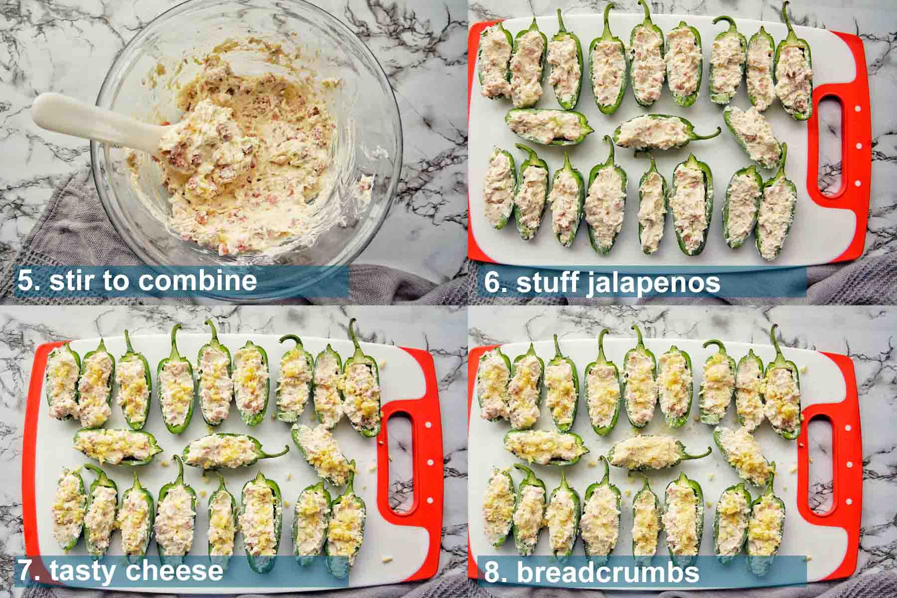 Air Fryer jalapeno poppers method 5 to 8