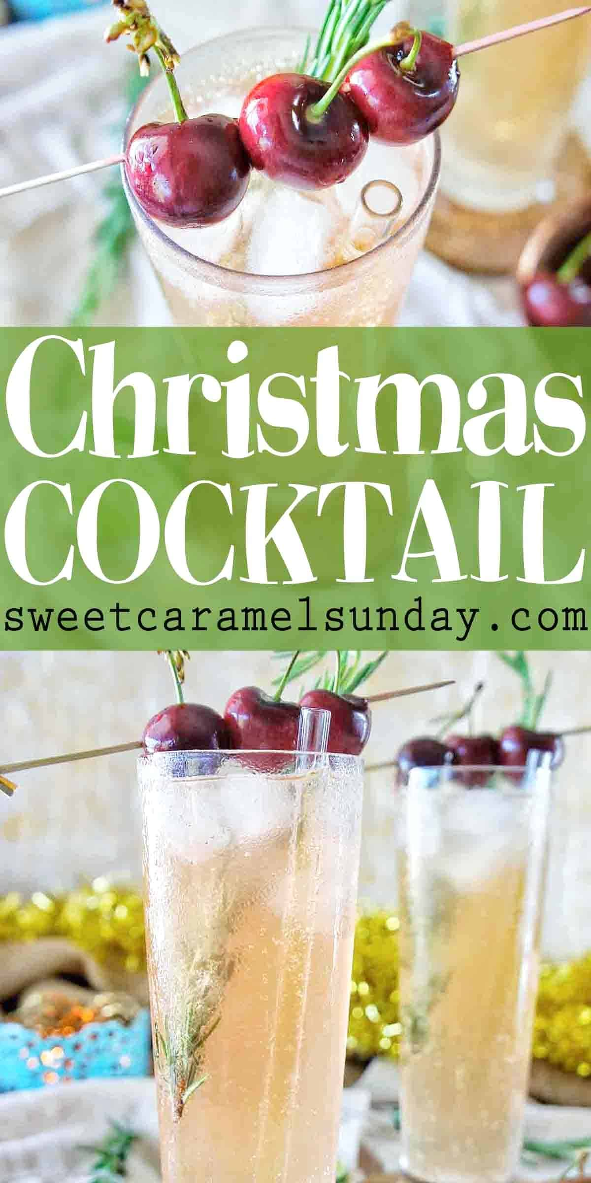 Christmas Cocktail with text overlay