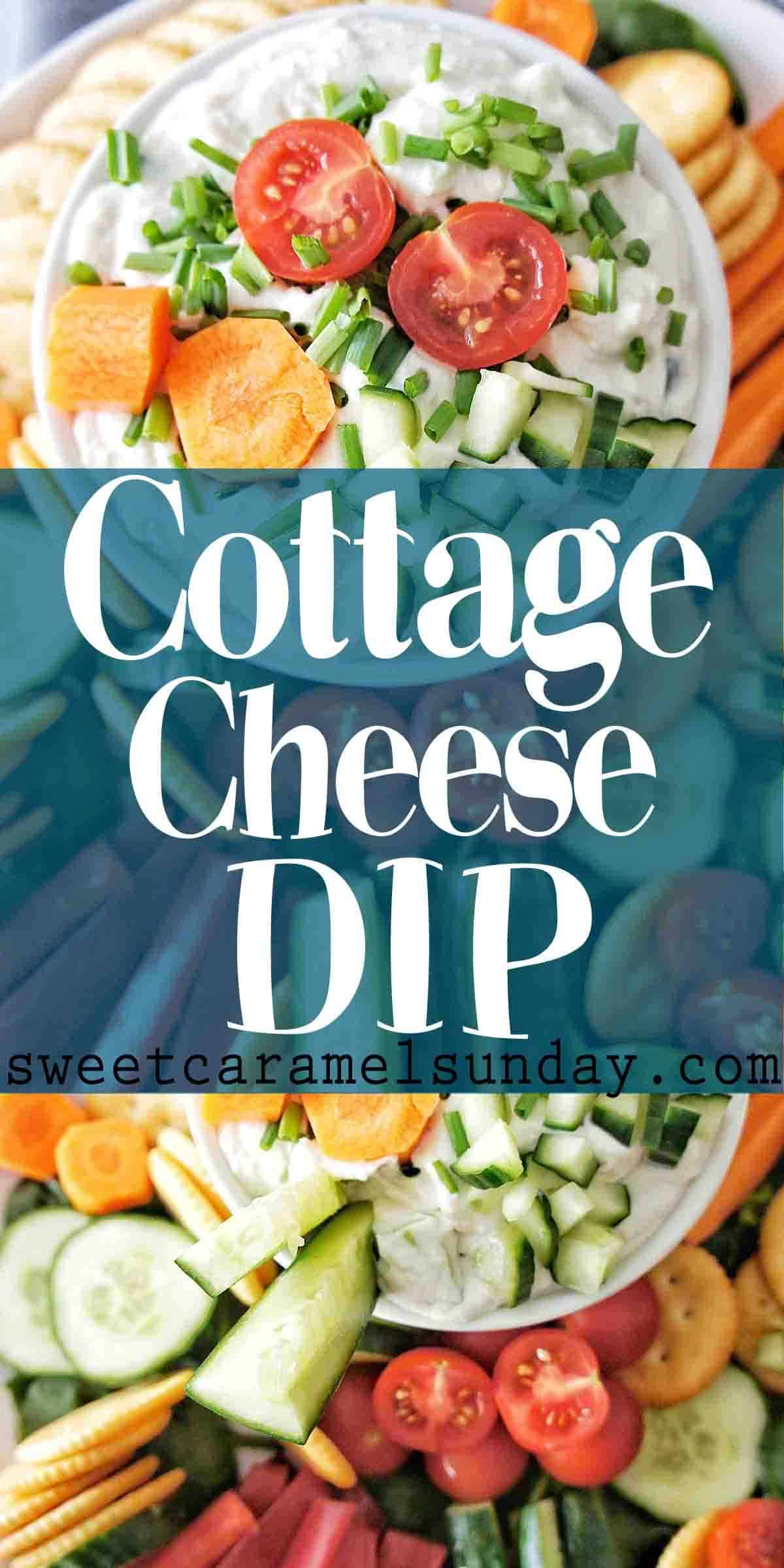 Cottage Cheese Dip with text overlay
