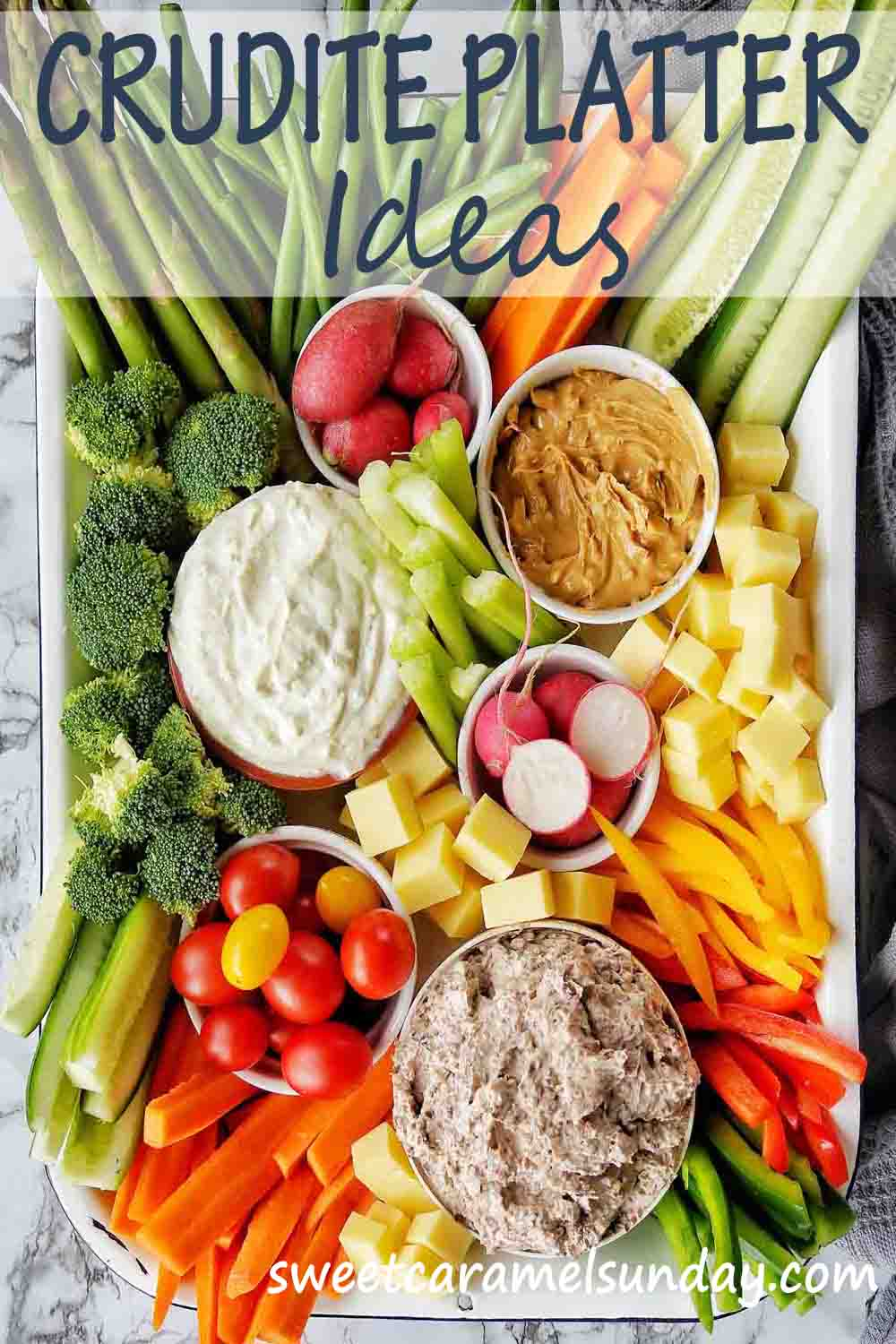 Crudite Platter ideas with text label