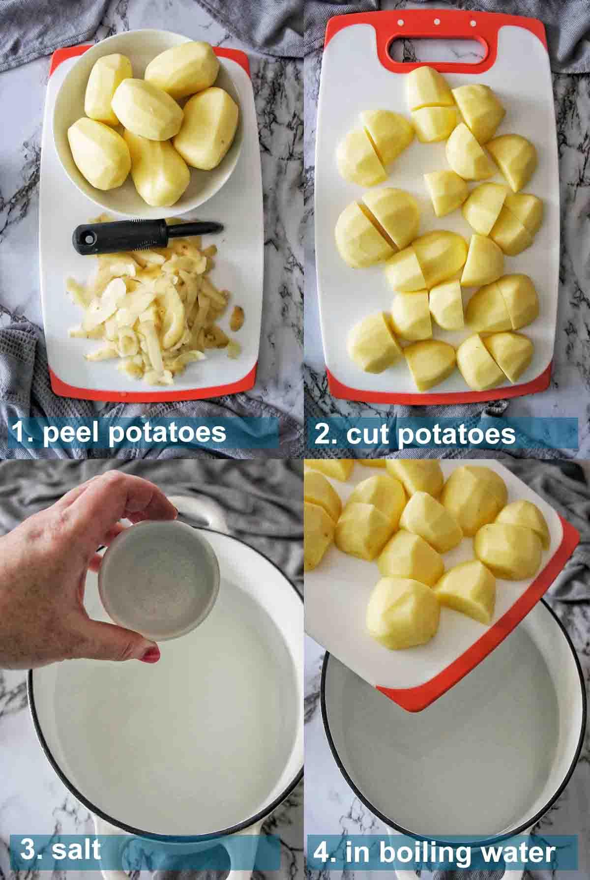 Duck Fat potatoes method 1 to 4