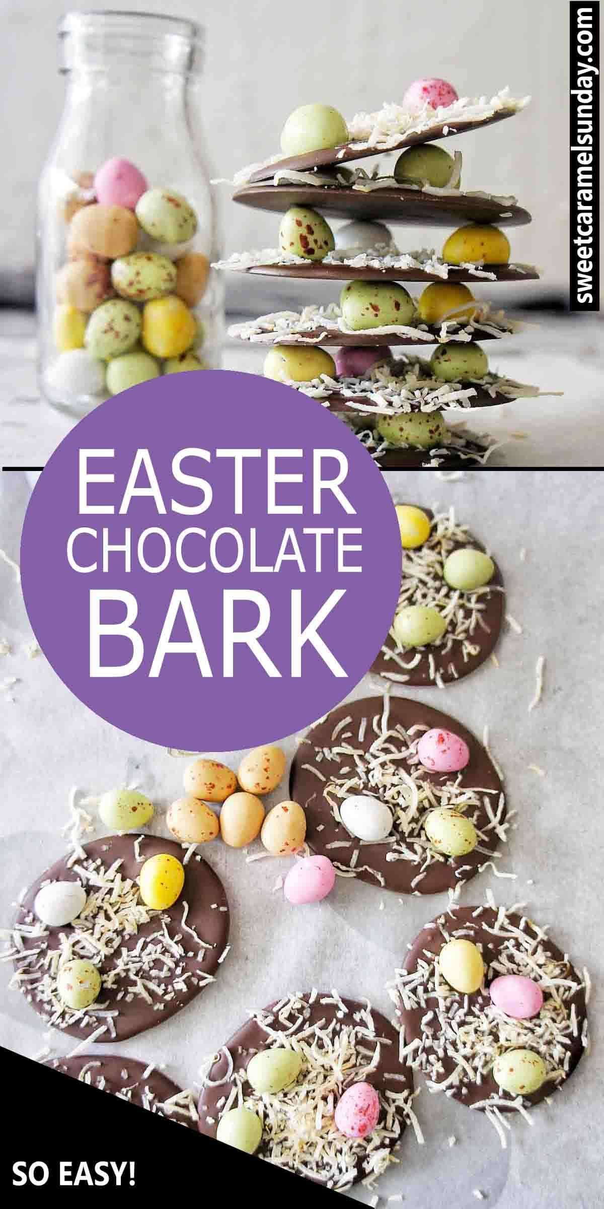 Easter Bark with text overlay