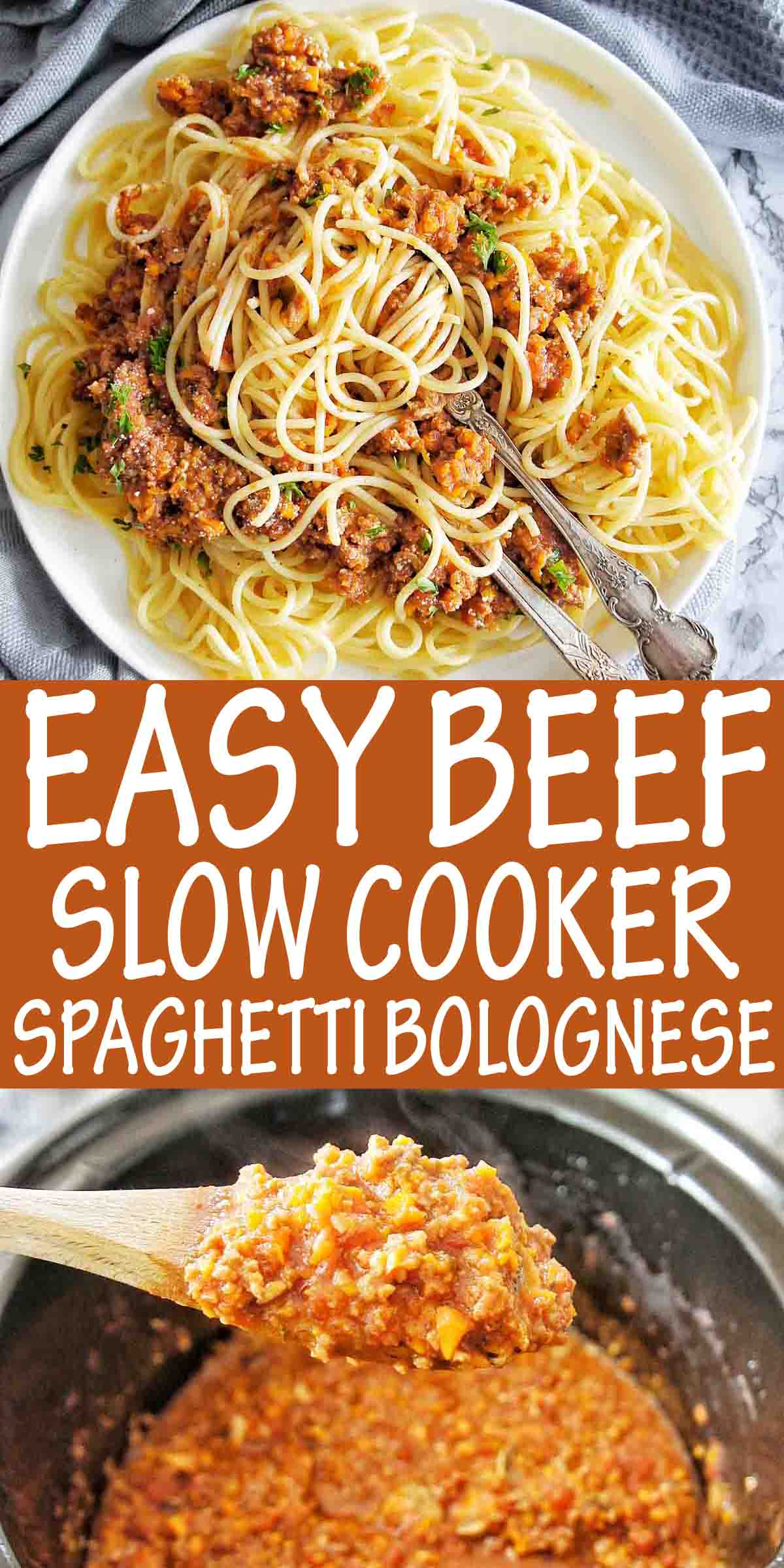 Easy Beef Slow Cooker Spaghetti Bolognese