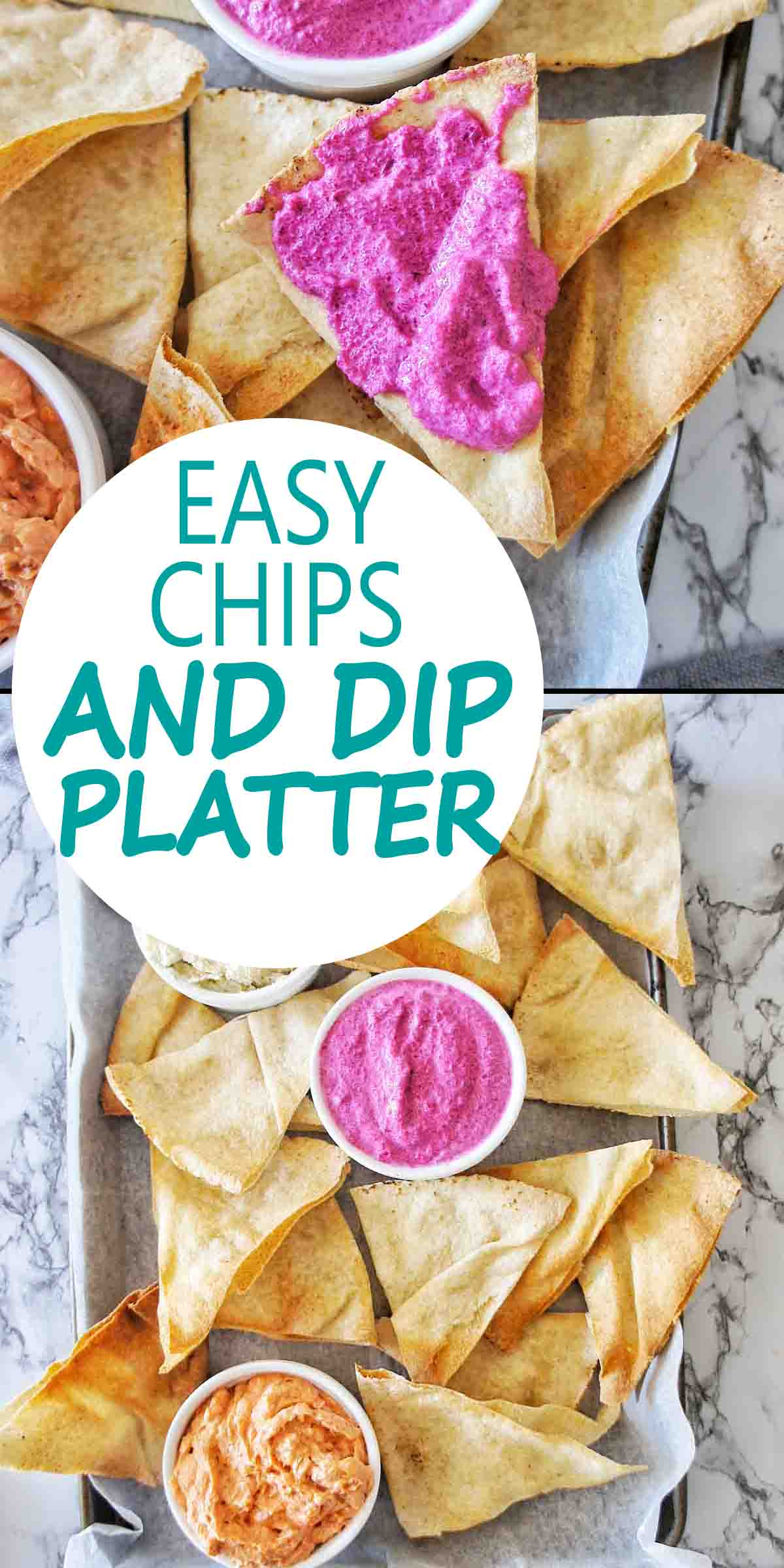 Easy Chips and Dip Platter