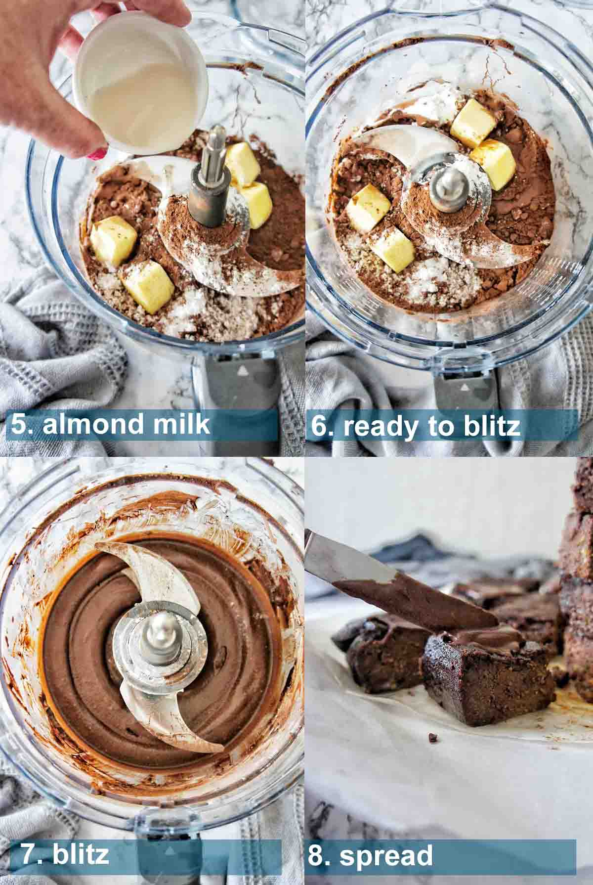 Chocolate frosting method with text over lay