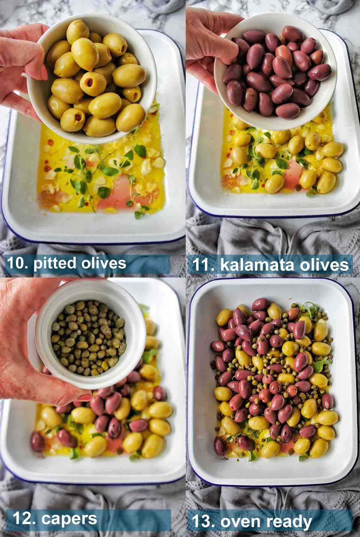 Herbed Olives Method 10 to 13 with text over lay