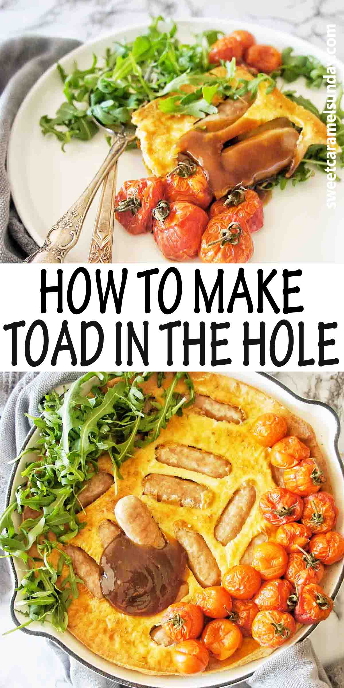 How to Make Toad in the Hole with text over lay