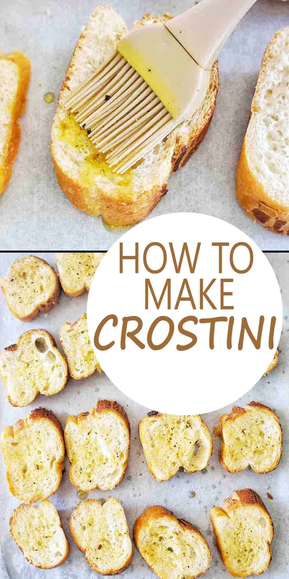 How to make Crostini with text over lay