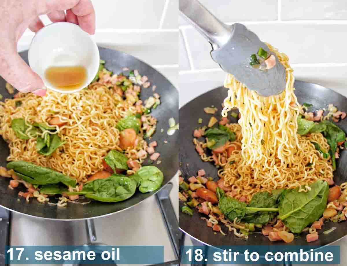 Hungover Noodles method 17 to 18 with text over lay
