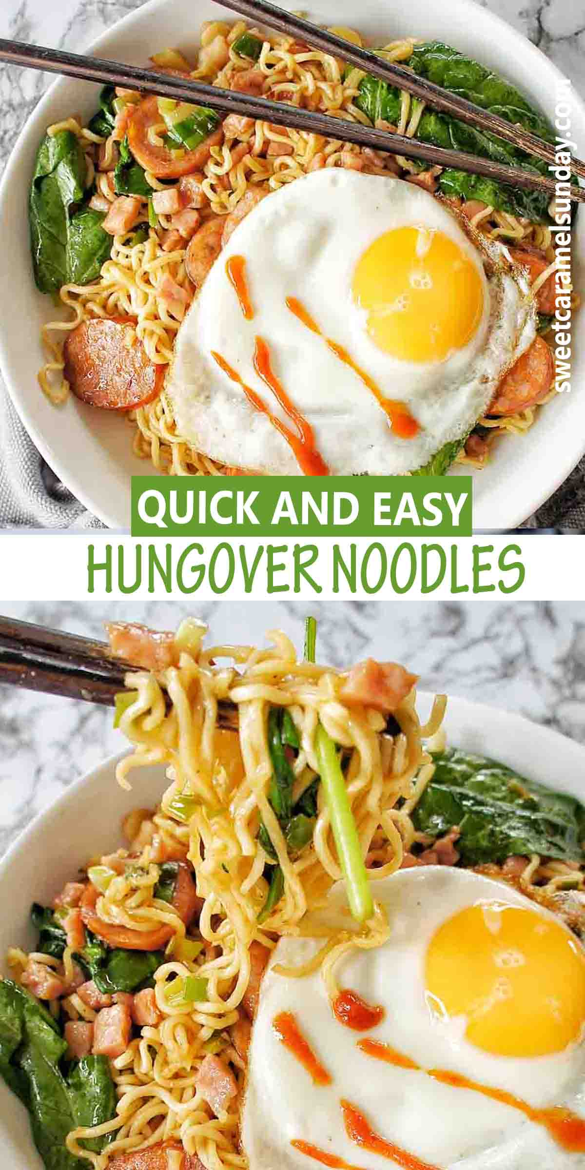 Hungover Noodles with text overlay