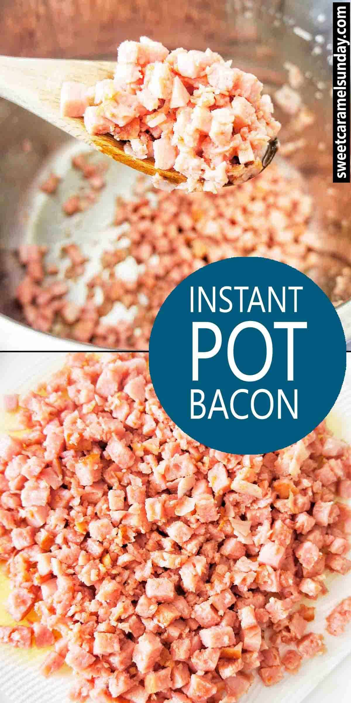 Instant Pot Bacon image with text overlay