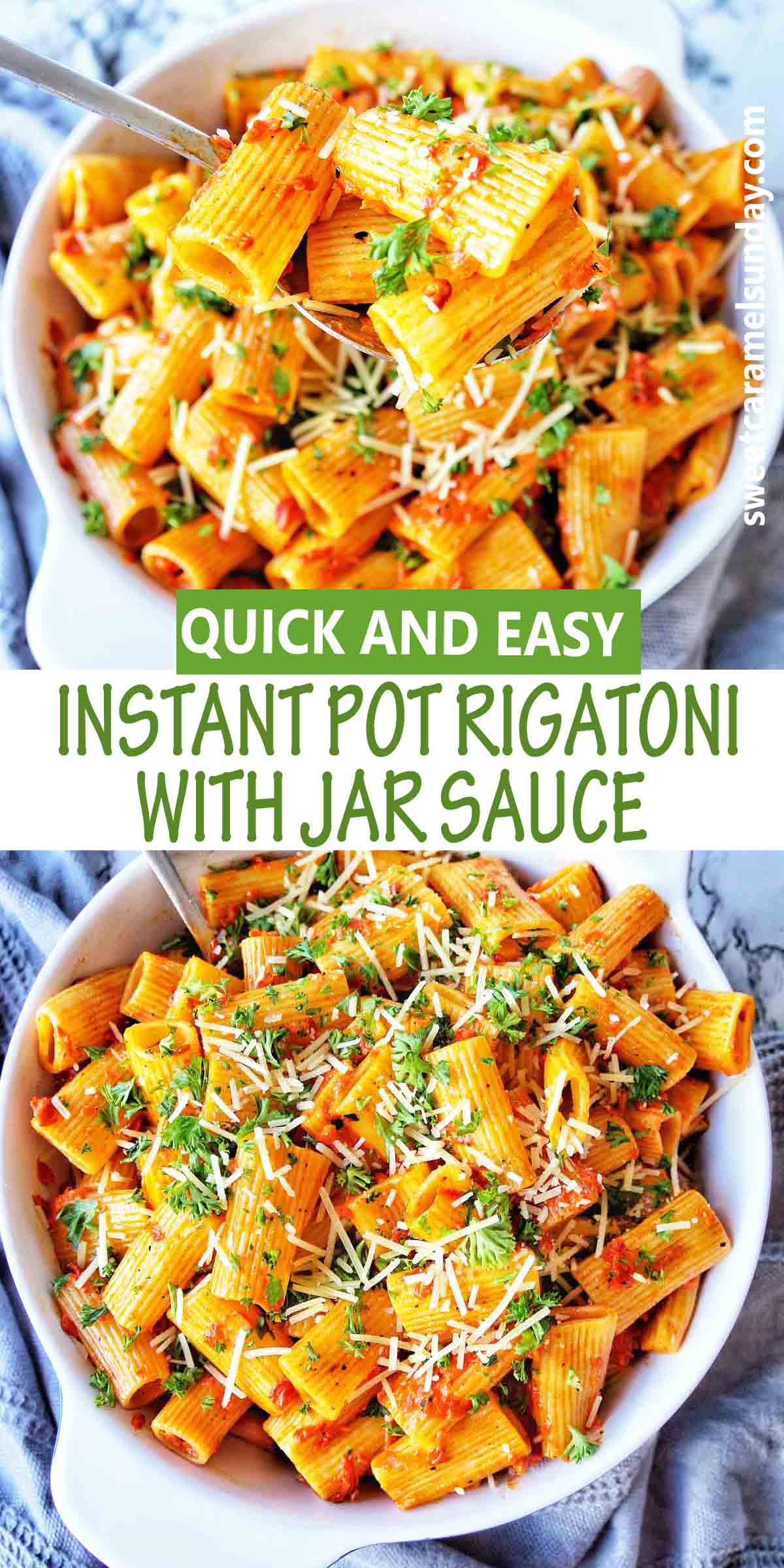 Instant Pot Rigatoni with Jar Sauce
