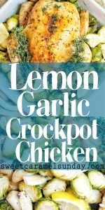 Lemon Garlic Chicken photos with text overlay