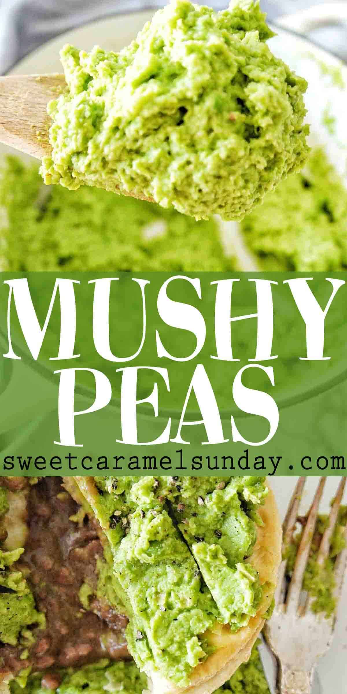 Mushy Peas with text overlay