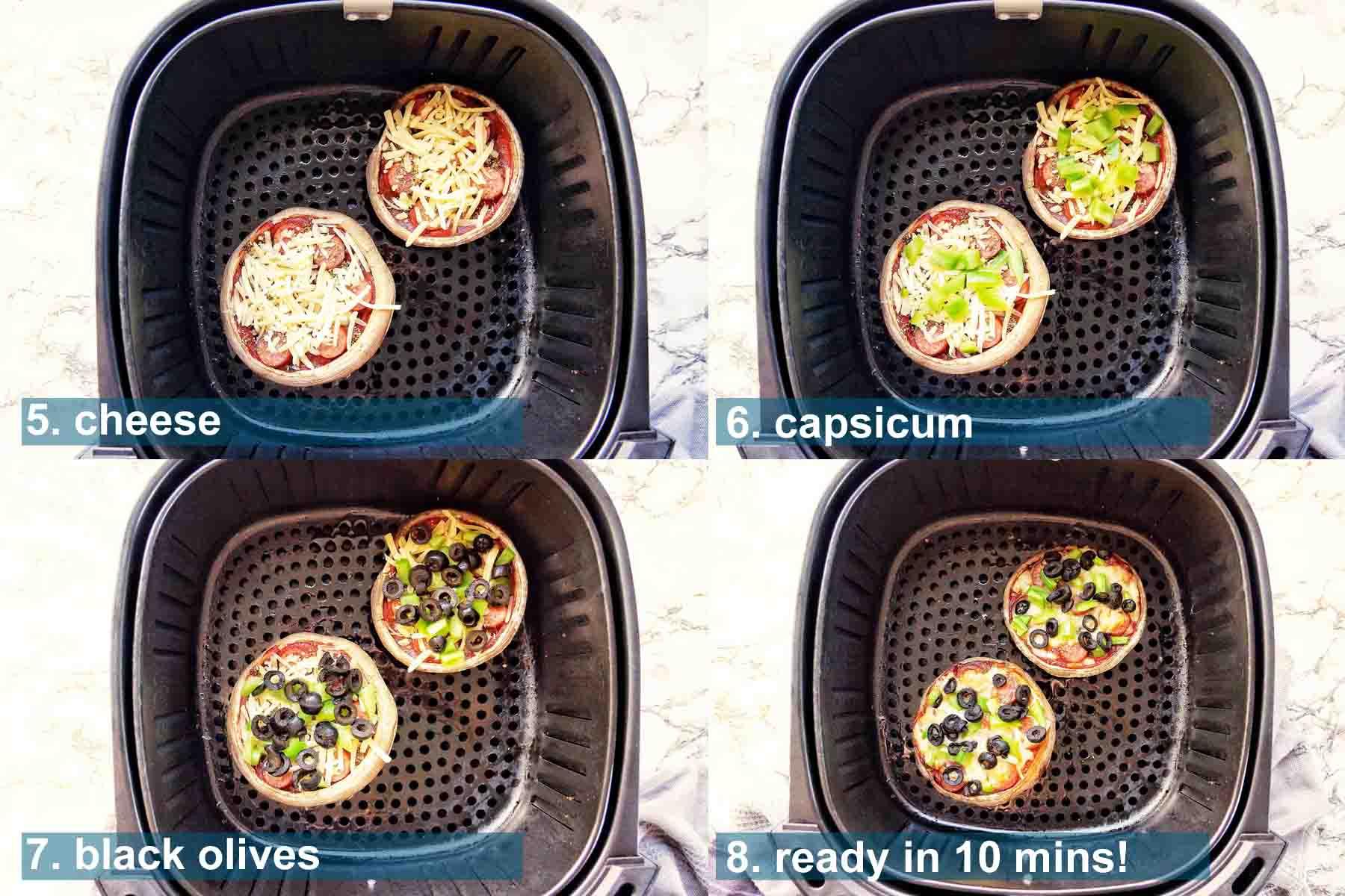 Portobello Pizza method 5 to 8