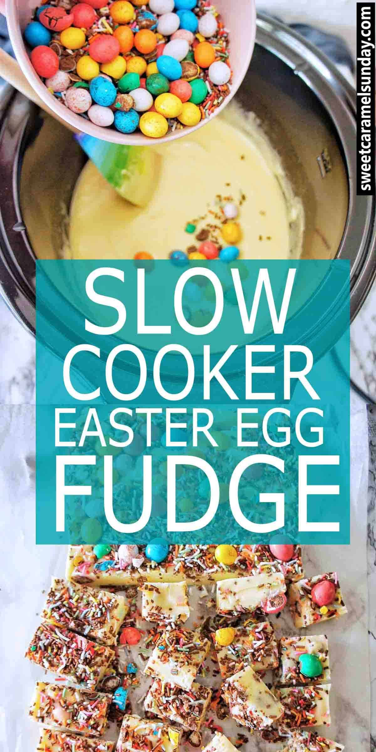 Easter Fudge with text overlay