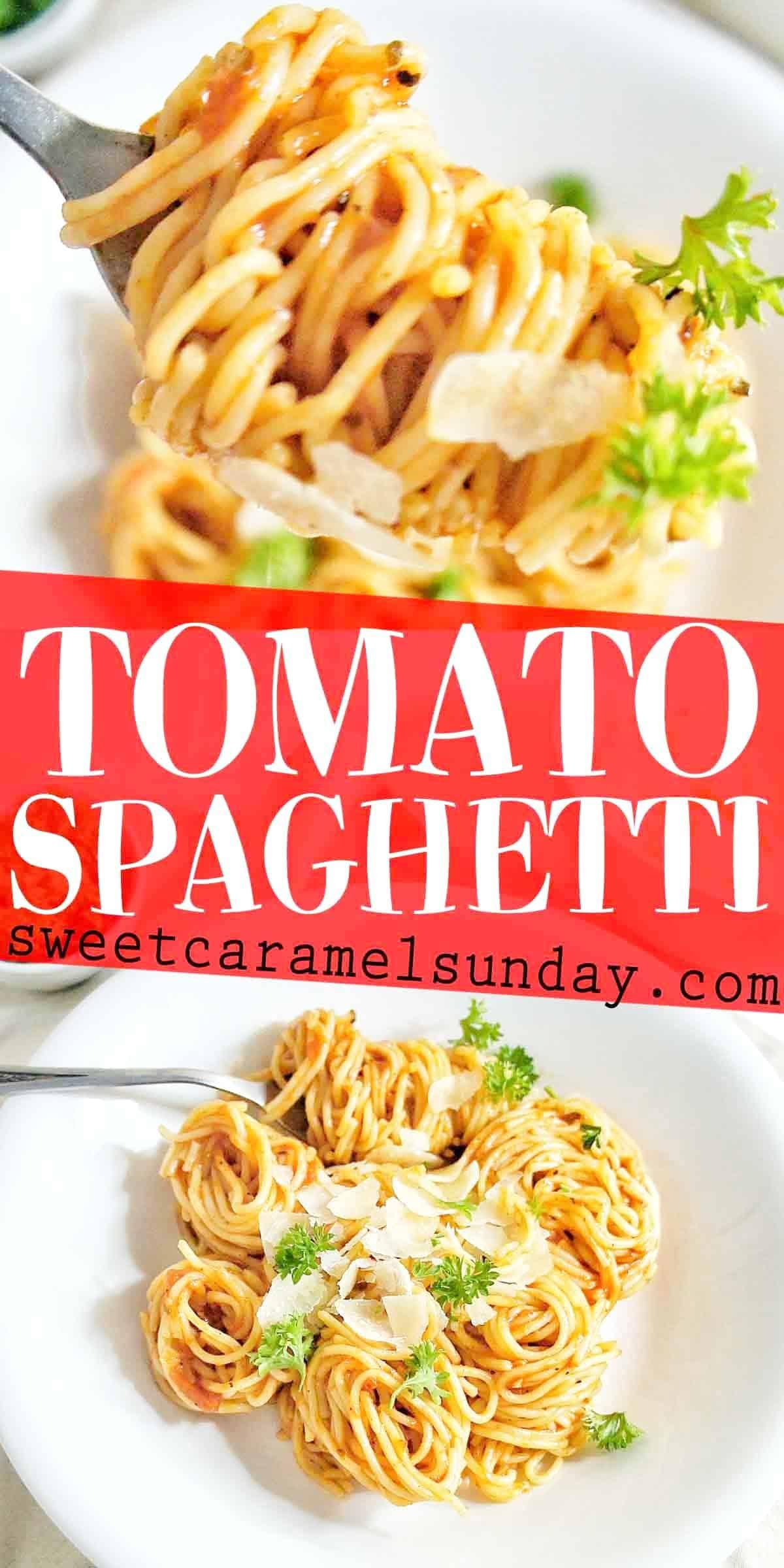 Tomato Spaghetti with text overlay