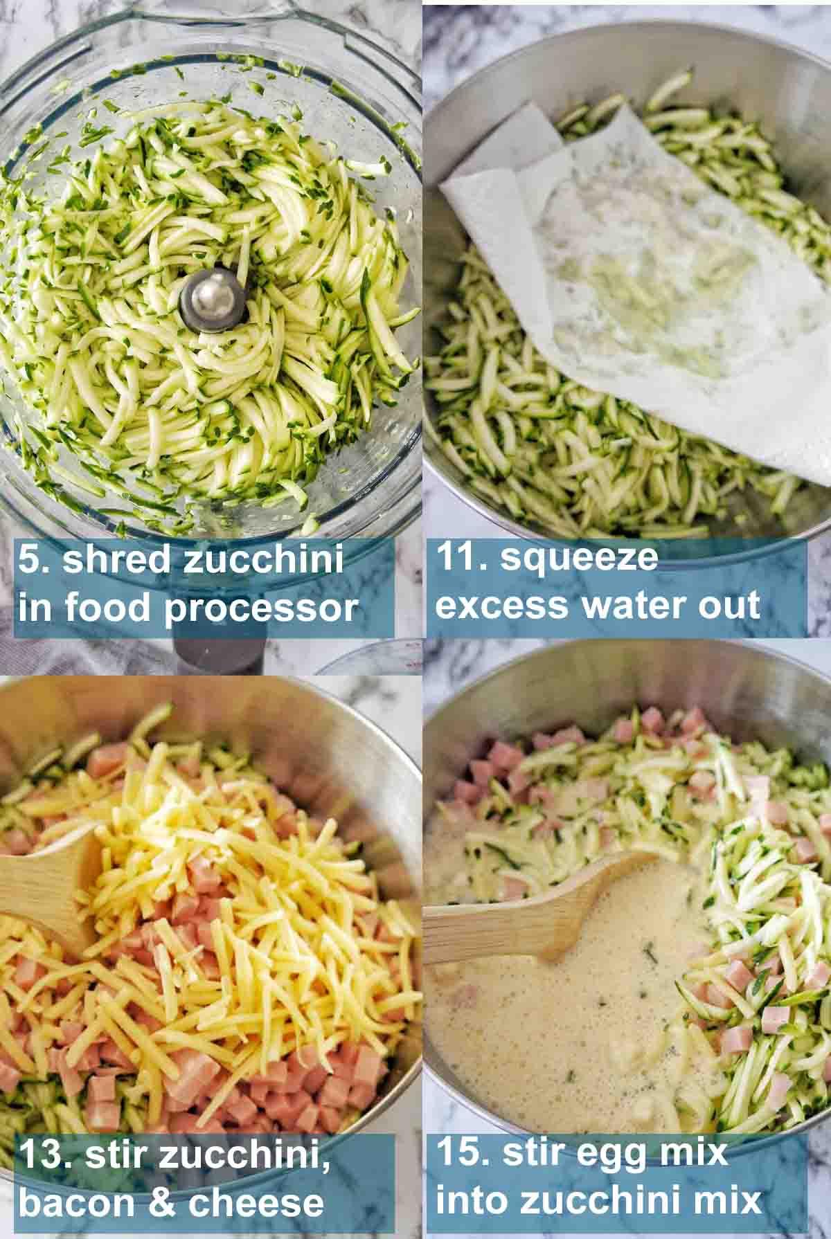 Zucchini Slice method with text overlay